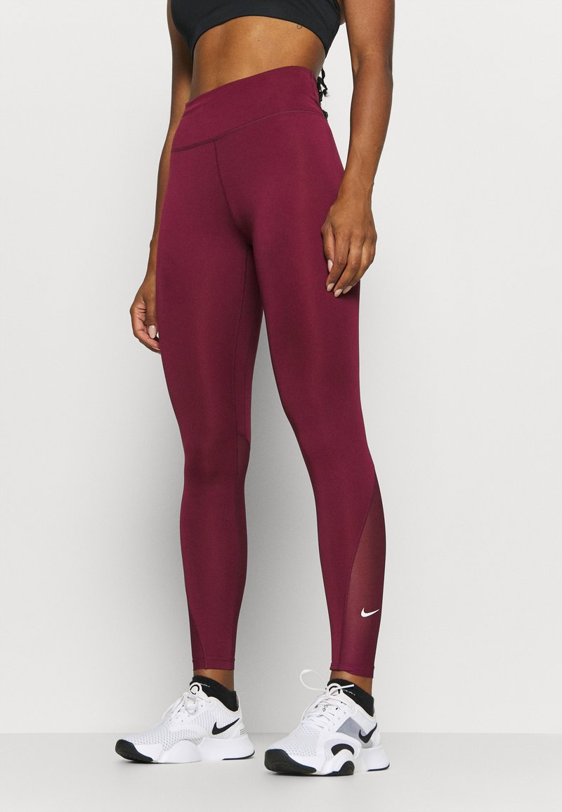Nike Performance - ONE 7/8  - Leggings - dark beetroot