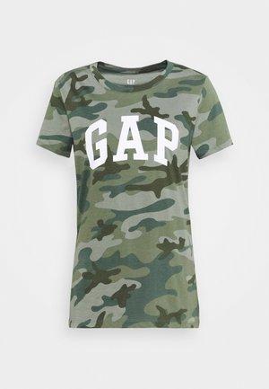 TEE - T-shirt z nadrukiem - khaki