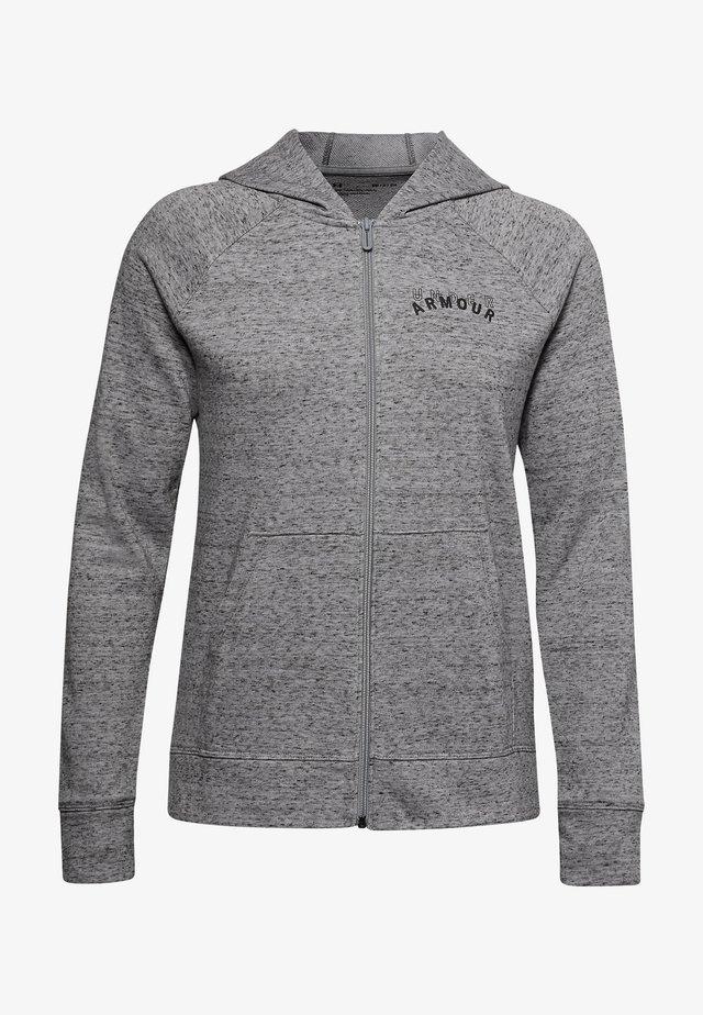Zip-up hoodie - dark grey/black