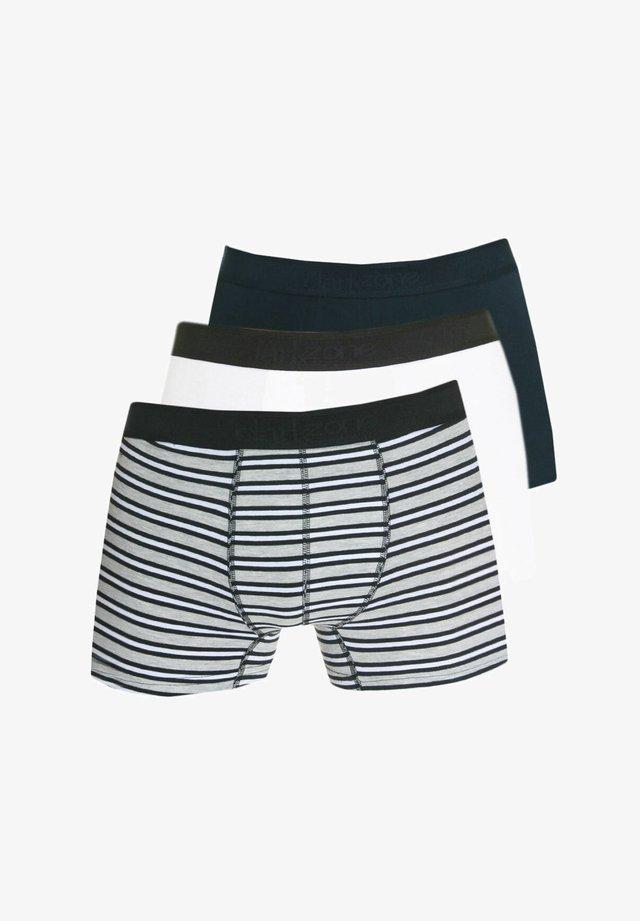 3 PACK - Pants - schwarz/weiss
