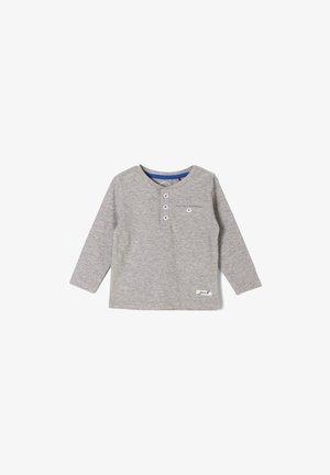MIT KNOPFLEISTE - Long sleeved top - grey melange