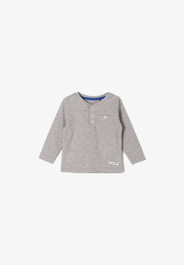 MIT KNOPFLEISTE - Long sleeved top - grey melange