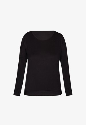 CASUAL COMFORT - Pyjama top - black