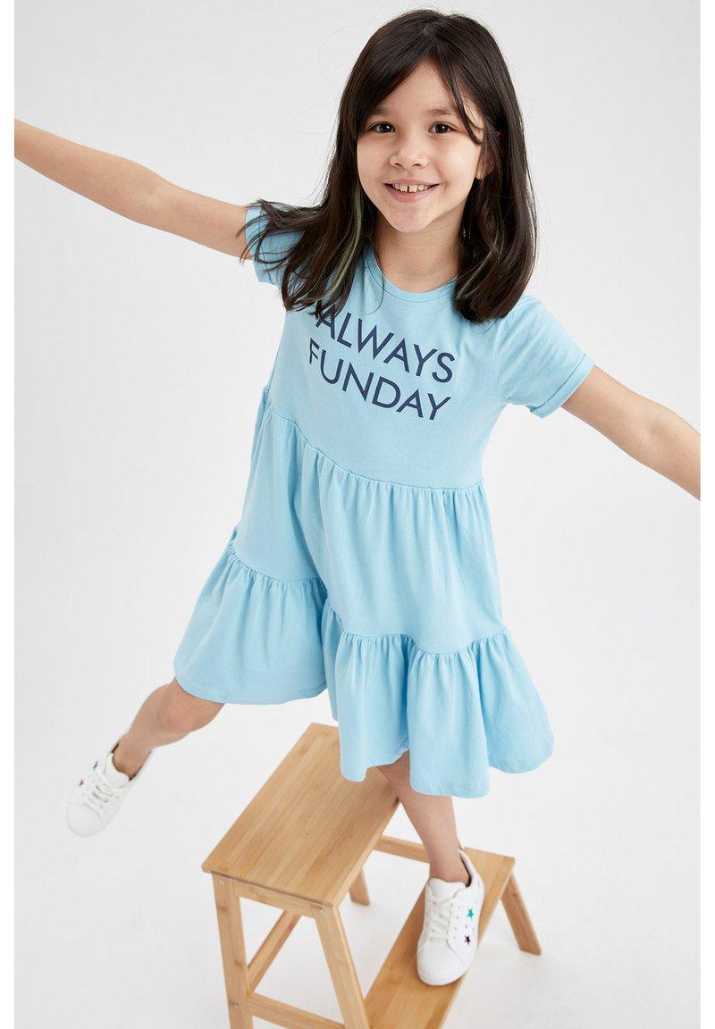 DeFacto - Jersey dress - blue