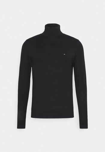 FINE GAUGE LUXURY ROLL  - Stickad tröja - black