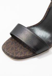 MICHAEL Michael Kors - PETRA - High heeled sandals - black/brown - 2