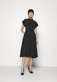 Closet - CLOSET FULL SKIRT SHIRT DRESS - Paitamekko - black - 0