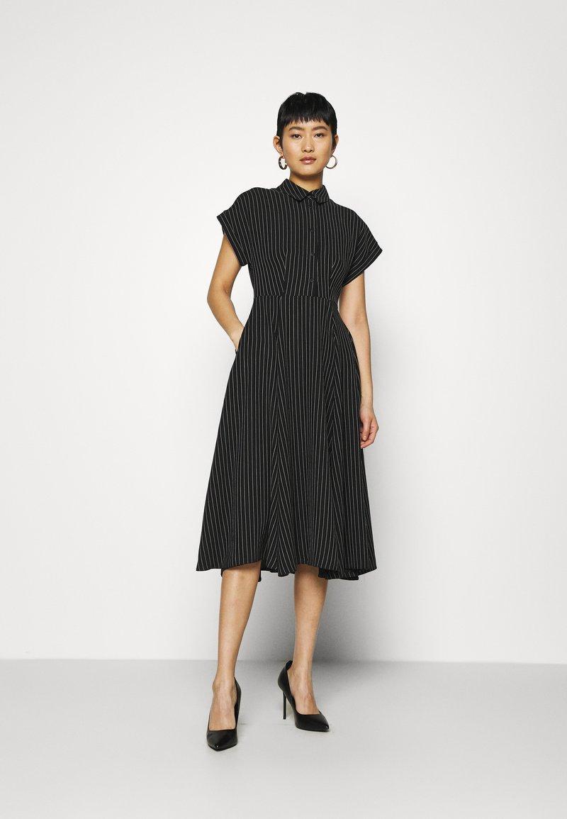 Closet - CLOSET FULL SKIRT SHIRT DRESS - Paitamekko - black
