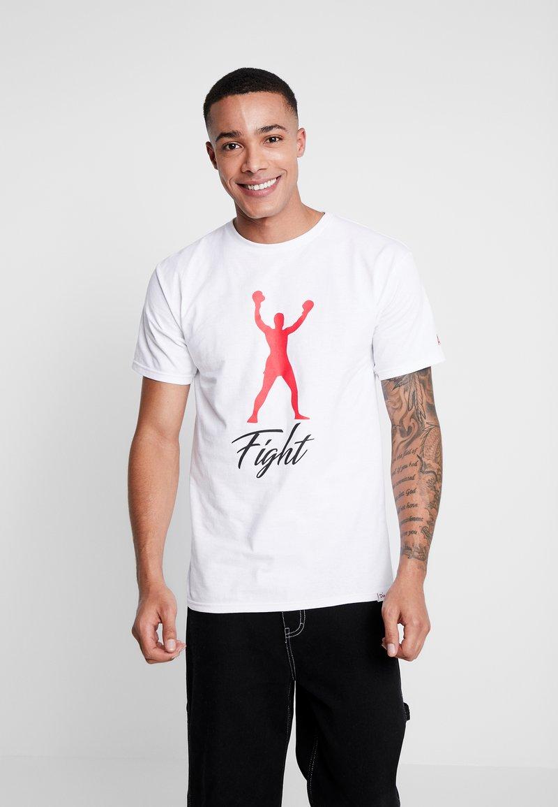 Diamond Supply Co. - FIGHT SHORT SLEEVE TEE - T-shirt z nadrukiem - white