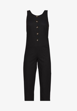 BUTTON DETAIL RELAXED - Jumpsuit - black