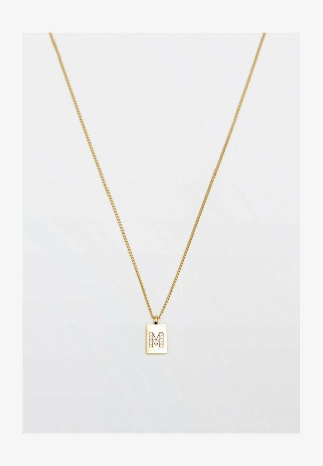 MIT BUCHSTABE M  - Necklace - gold coloured