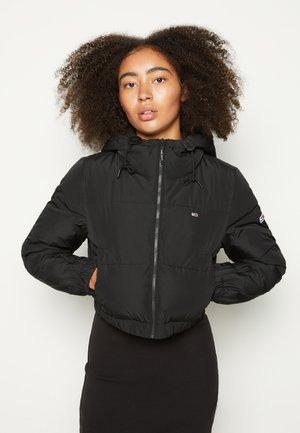 CROPPED PUFFER - Winter jacket - black