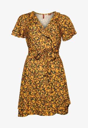 Sukienka letnia - autumn ditsy gold