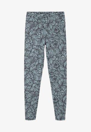 Leggings - Trousers - grigio st big peonia