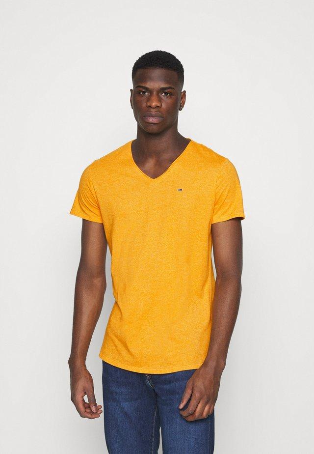 SLIM JASPE V NECK - T-shirt basique - yellow