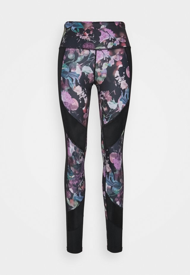 LEGGING WILD BLOOM - Trikoot - black
