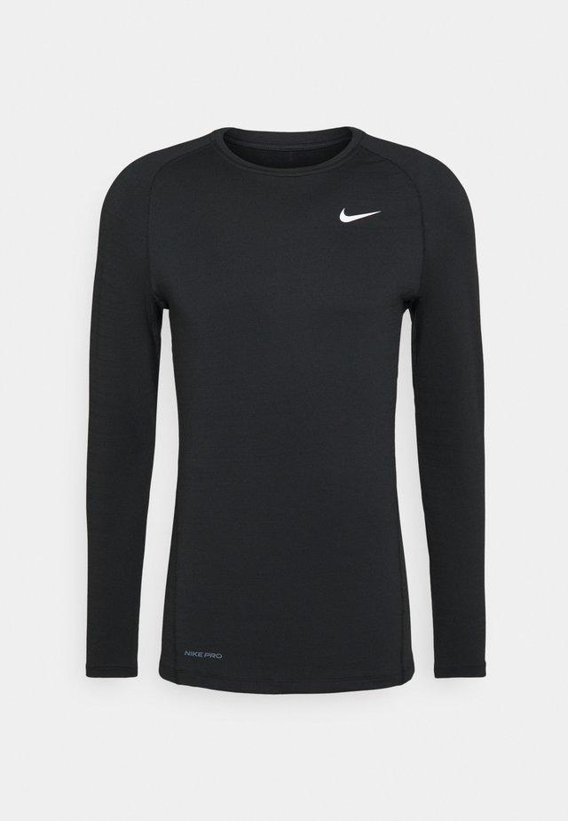 WARM CREW - Sportshirt - black/white
