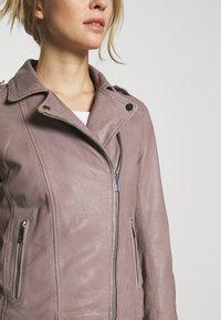 Oakwood - PALM - Veste en cuir - grey - 5