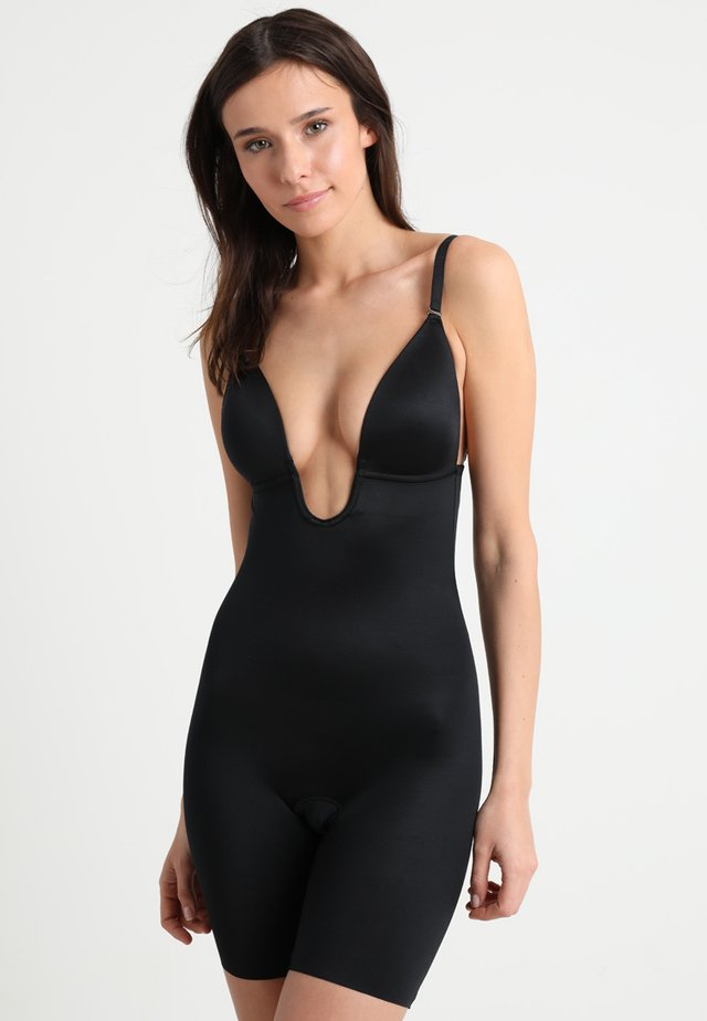 SUIT YOUR FANCY PLUNGE LOW BACK MID TIGH  - Body - very black