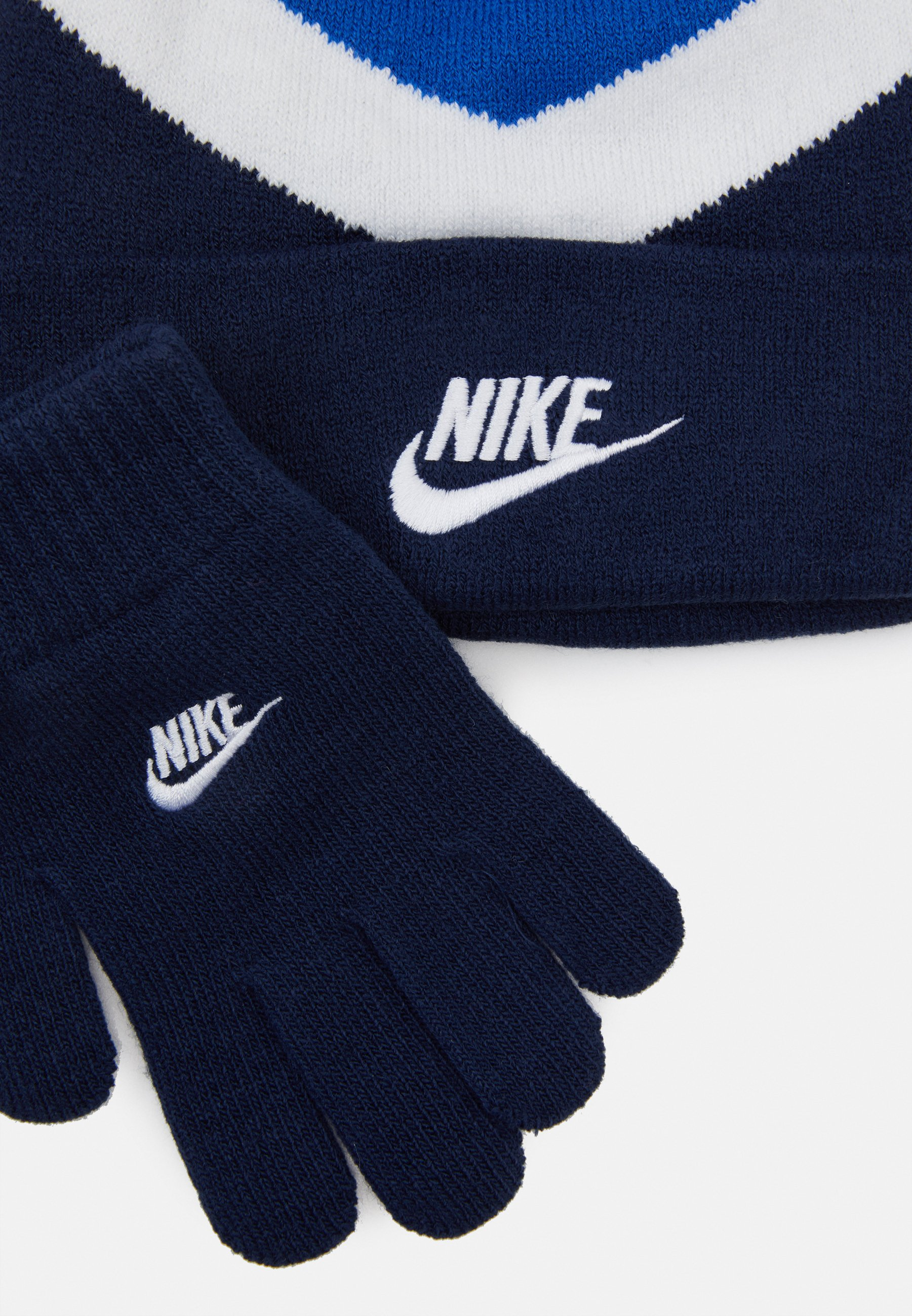 Nike Sportswear BLOCKED BEANIE GLOVE SET - Lue - game royal/blå P0WvQlnFov6Klbk
