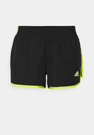 SHORT - Korte broeken - black/acid yellow