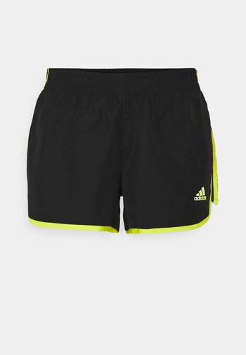 Marathon 20 SHORT RESPONSE AEROREADY RUNNING REGULAR SHORTS - Pantaloncini sportivi - black/acid yellow