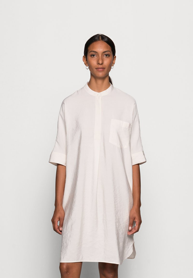 Marc O'Polo - DRESS RELAXED FLUENT STYLE CHEST POCKET ROUNDED HEMLINE - Day dress - shaded sand