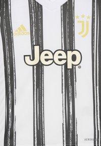 adidas Performance - JUVE MINI UNISEX - Sportovní kraťasy - white/black - 3
