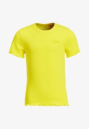 SLIM FIT  - Basic T-shirt - bright yellow