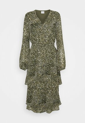 VIFULLA V-NECK DRESS - Denní šaty - ivy green