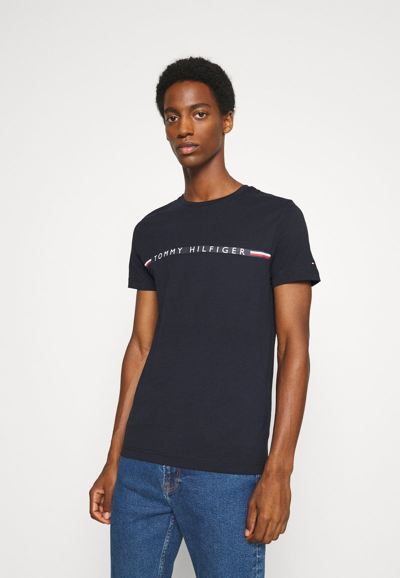 Tommy Hilfiger - MINI STRIPE - Print T-shirt - blue