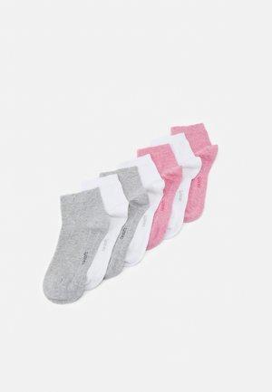 ONLINE SOFT QUARTER UNISEX 7 PACK - Socks - pink melange