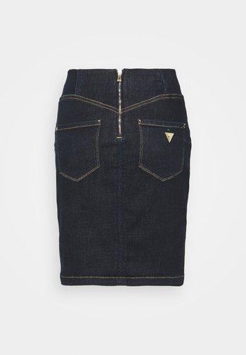 ULTRA MIDI SKIRT - A-line skirt - raw denim