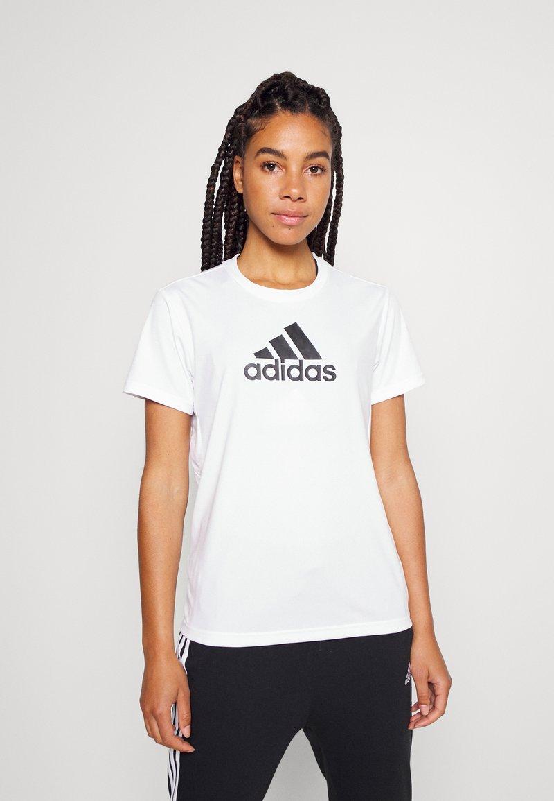 adidas Performance - T-shirts med print - white/black