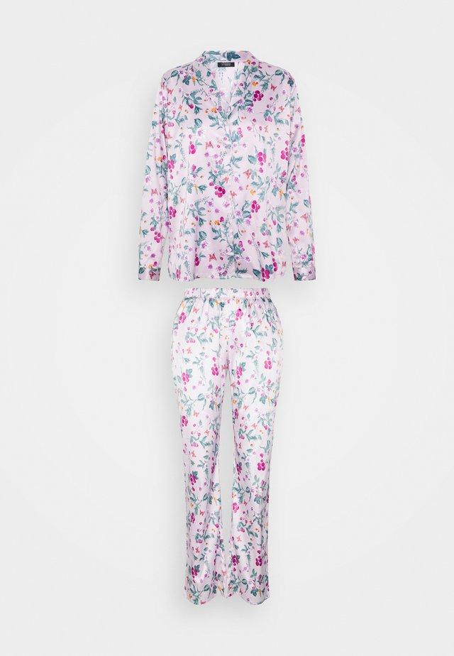 FLOWER LONG SET - Pyžamo - lilac