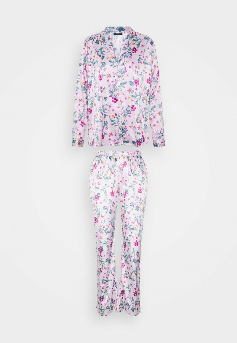 LASCANA - FLOWER LONG SET - Pyjamas - lilac