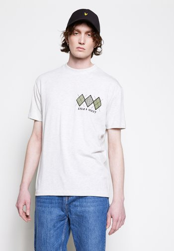 DIAMOND APPLIQUE RELAXED FIT - T-shirt med print - vanilla ice marl