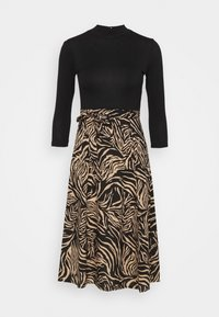 Dorothy Perkins - ZEBRA PRINT DRESS - Day dress - black - 4