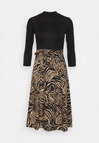 Dorothy Perkins - ZEBRA PRINT DRESS - Day dress - black - 4