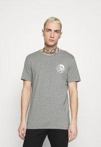 Diesel - UMTEE RANDAL 3 PACK - T-shirt basic - black/pink/grey melange - 4