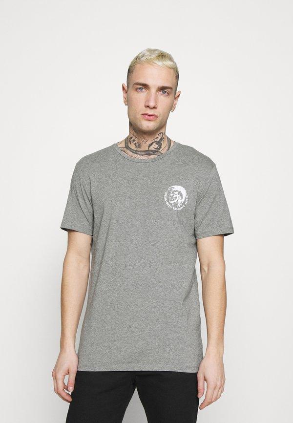 Diesel UMTEE RANDAL 3 PACK - T-shirt basic - black/pink/grey melange/rÓżowy Odzież Męska VDCH