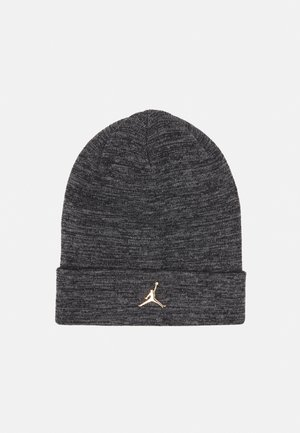 CUFFED BEANIE - Bonnet - carbon heather/metallic gold