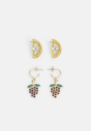 PCPHI EARRINGS 2 PACk - Korvakorut - gold-coloured/multi