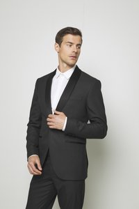 Isaac Dewhirst - RECYCLED TUX SLIM FIT - Completo - black - 2