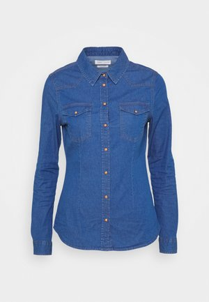 CAMISA BÁSICA - Button-down blouse - medium blue