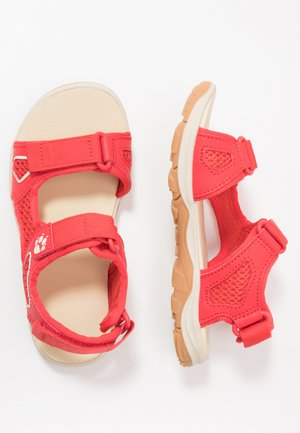 TARACO BEACH - Walking sandals - red/champagne