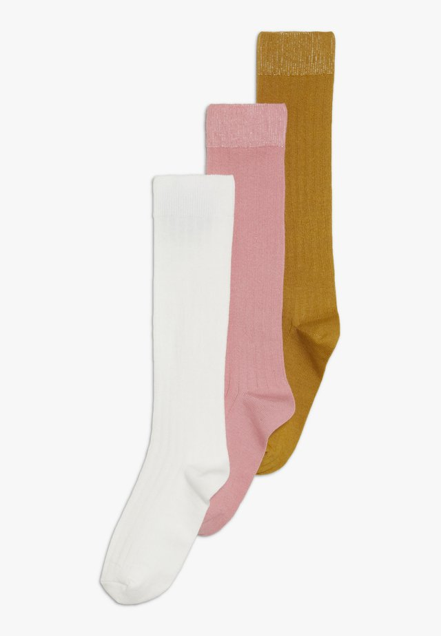 KNEEHIGH 3 PACK UNISEX - Knee high socks - creme/altrosa/honig