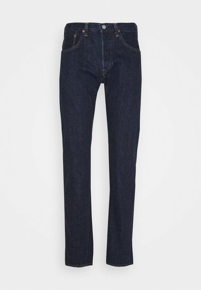 REGULAR TAPERED - Straight leg jeans - dark-blue denim