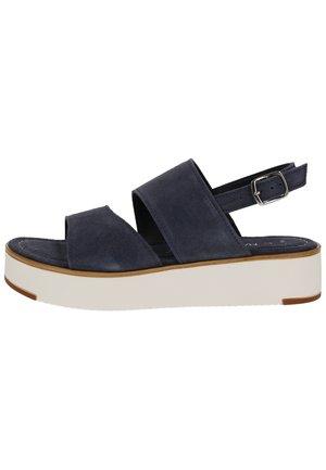 Sandály na platformě - navy 805