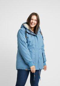 Ragwear Plus - DANKA MINIDOTS COAT - Kåpe / frakk - blue - 2